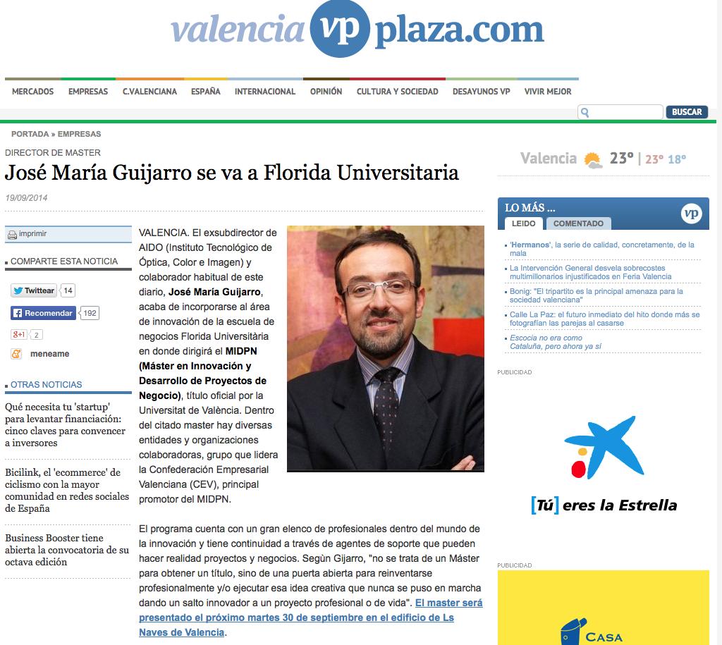 José María Guijarro se va a Florida Universitaria